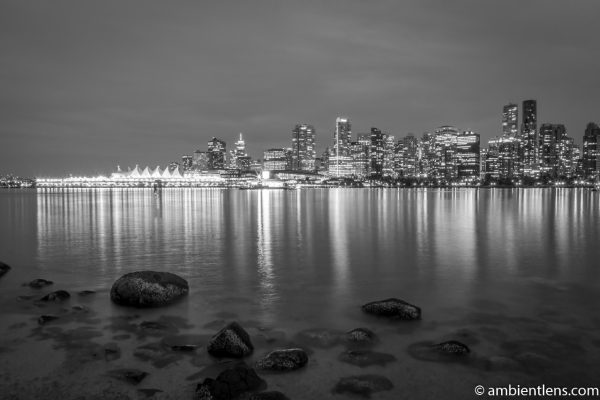 Downtown Vancouver at Night 1 (BW)