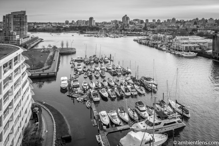 Boats in Vancouver 1 (BW)