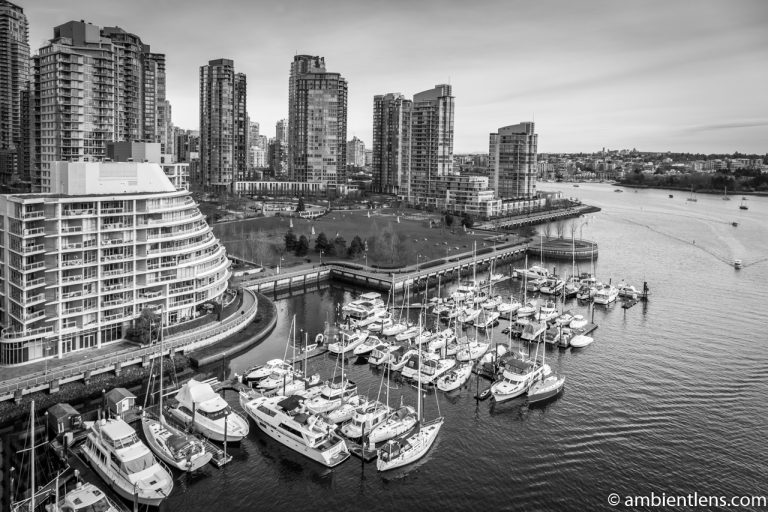 Boats in Vancouver 3 (BW)