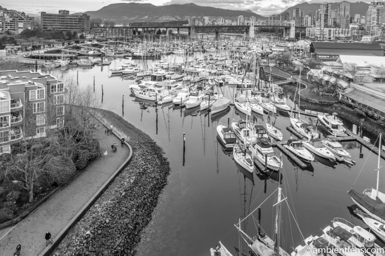 Boats in Vancouver 4 (BW)