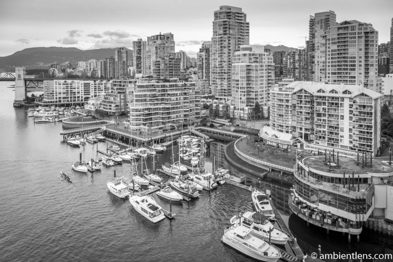 Boats in Vancouver 5 (BW)