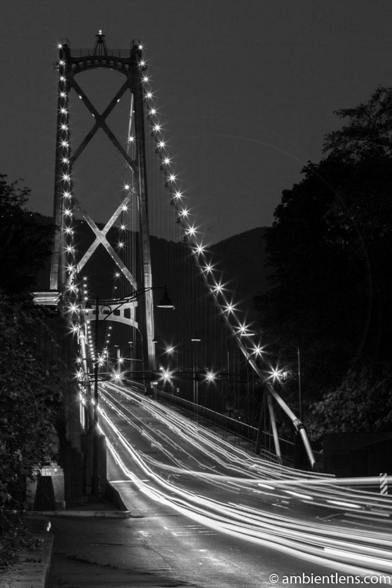 Lions Gate Bridge, Vancouver, BC (BW)