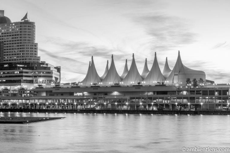 Canada Place, Vancouver, BC 2 (BW)