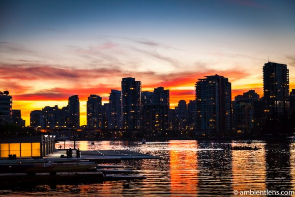 False Creek Sunset in Downtown Vancouver