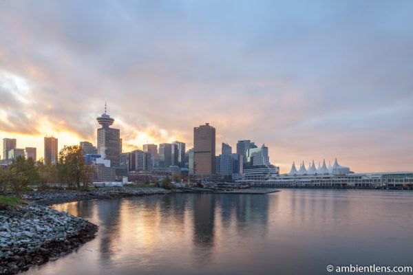 Downtown Vancouver from Crab Park at Sunset 2