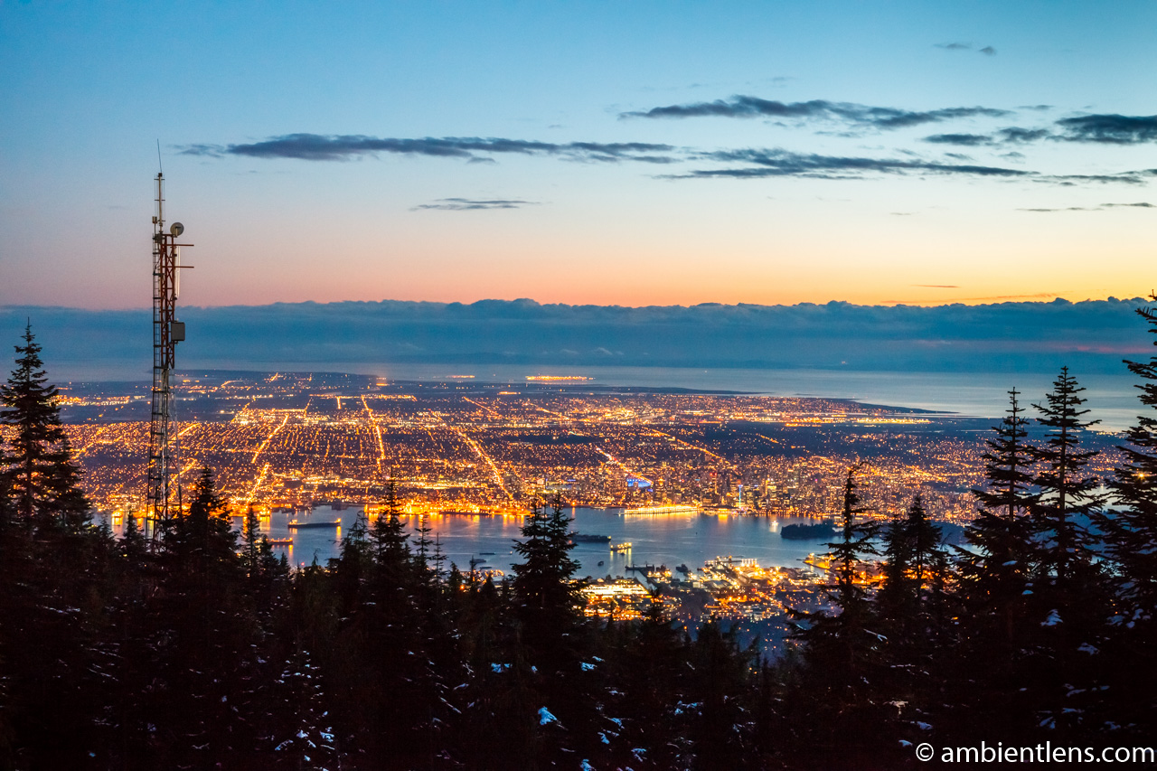 Downtown Vancouver from Grouse Mountain at Sunset 2