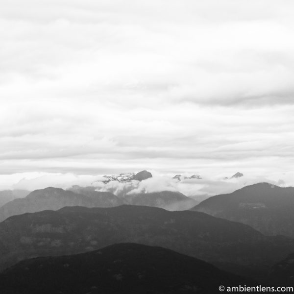 Layers of Mountains (BW SQ)