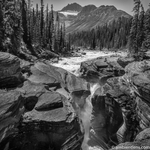 Mistaya Canyon, Banff, Alberta (BW SQ)