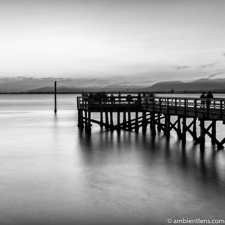 The Pier at Crescent Beach, White Rock, BC, Canada 4 (BW SQ)