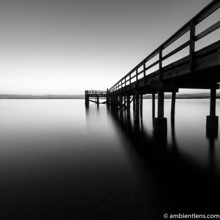 The Pier at Crescent Beach, White Rock, BC, Canada 8 (BW SQ)
