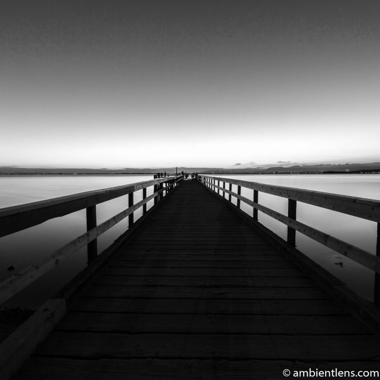 The Pier at Crescent Beach, White Rock, BC, Canada 9 (BW SQ)