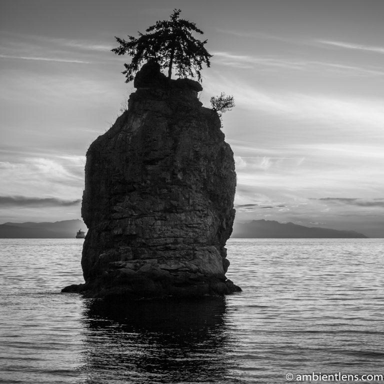 Siwash Rock, Stanley Park, Vancouver, BC 3 (BW SQ)