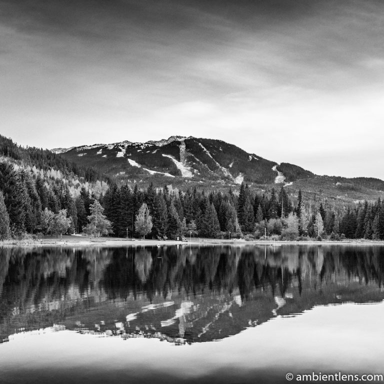 Lost Lake, Whistler, BC, Canada 1 (BW SQ)