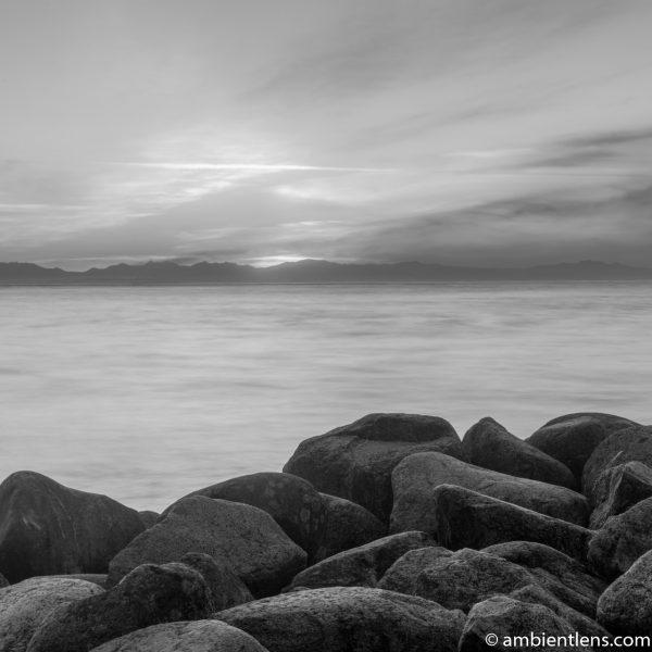 Big Rocks at Acadia Beach, Vancouver, BC 6 (BW SQ)