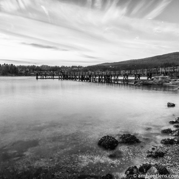 The Dock at Belcarra Regional Park, Anmore, BC 5 (BW SQ)