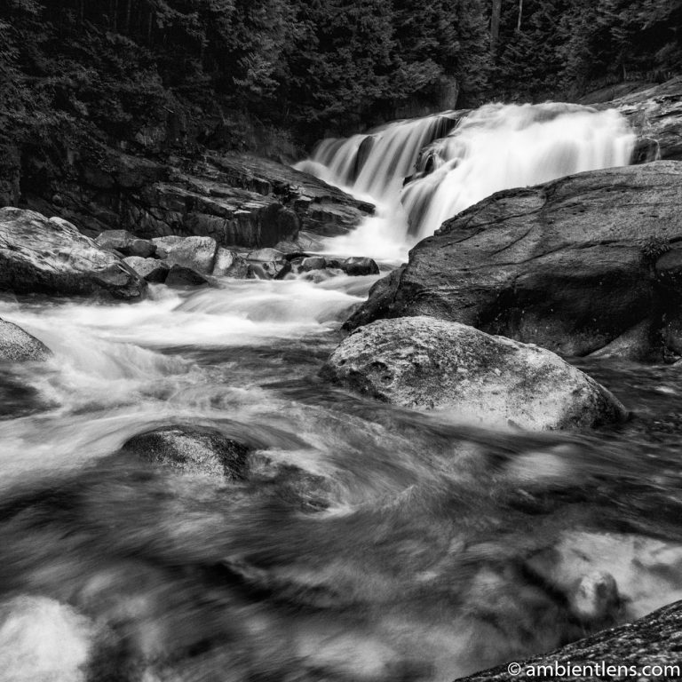 Gold Creek Falls, Maple Ridge, BC 2 (BW SQ)