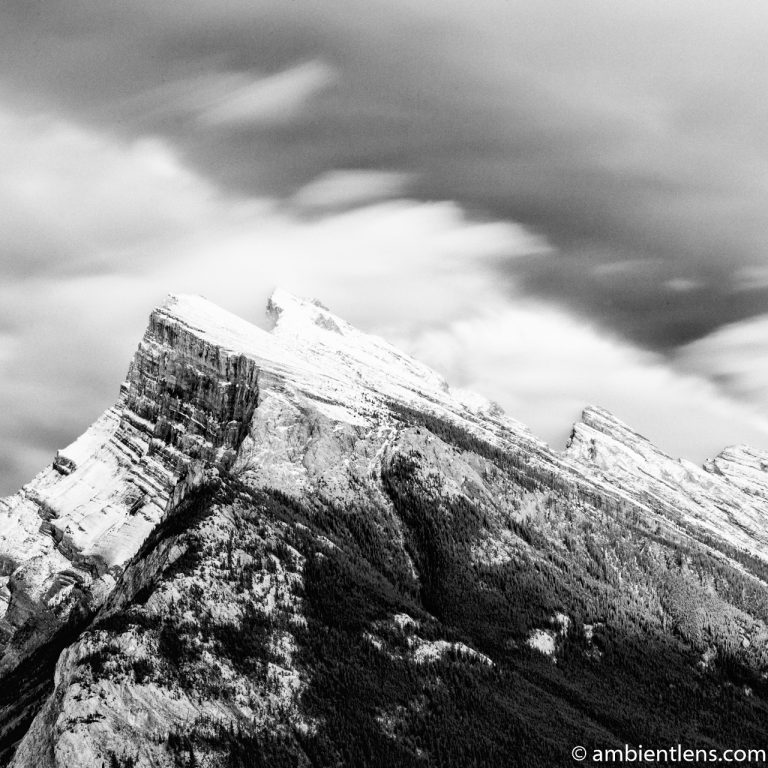 Mount Rundle, Banff, Alberta 5 (BW SQ)