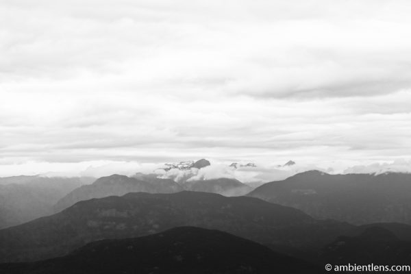 Layers of Mountains (BW)