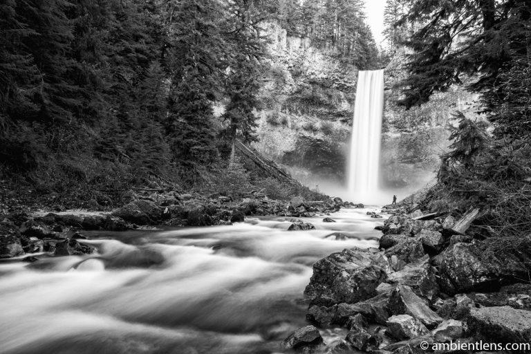 Hiking Brandywine Falls, Whistler, BC (BW)