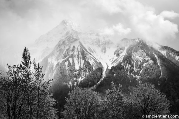 Mount Cheam, Chilliwack, BC (BW)
