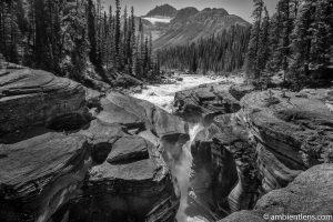 Mistaya Canyon, Banff, Alberta (BW)