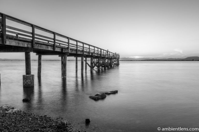 The Pier at Crescent Beach, White Rock, BC, Canada 1 (BW)