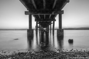 The Pier at Crescent Beach, White Rock, BC, Canada 2 (BW)