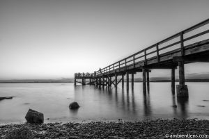 The Pier at Crescent Beach, White Rock, BC, Canada 3 (BW)