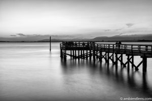 The Pier at Crescent Beach, White Rock, BC, Canada 4 (BW)
