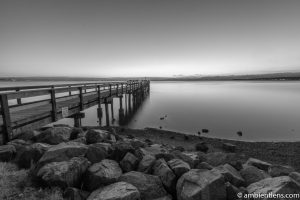 The Pier at Crescent Beach, White Rock, BC, Canada 5 (BW)
