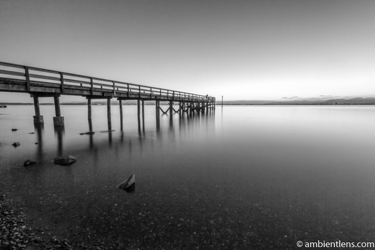 The Pier at Crescent Beach, White Rock, BC, Canada 6 (BW)