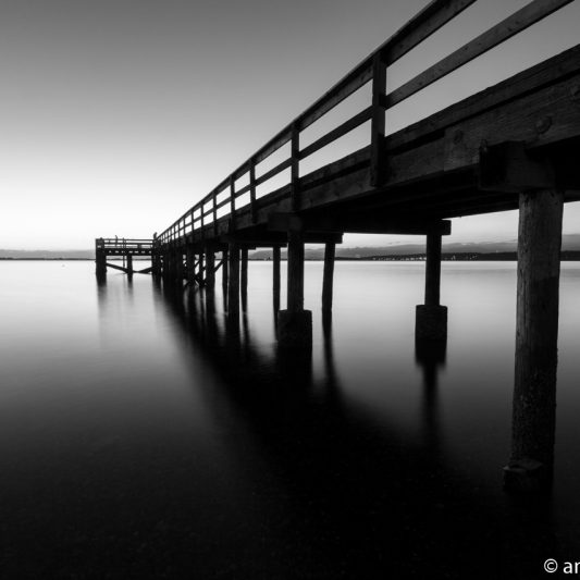The Pier at Crescent Beach, White Rock, BC, Canada 8 (BW)
