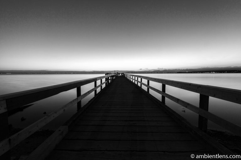The Pier at Crescent Beach, White Rock, BC, Canada 9 (BW)