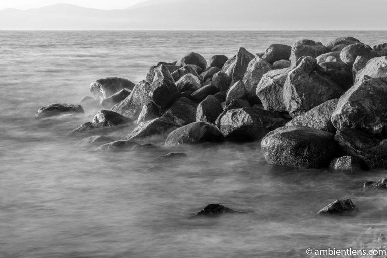 Big Rocks at Acadia Beach, Vancouver, BC 5 (BW)