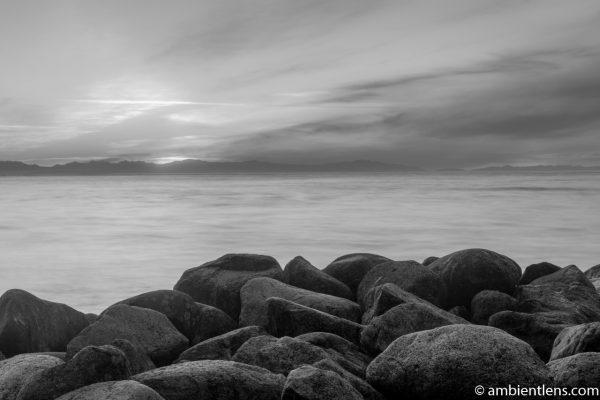 Big Rocks at Acadia Beach, Vancouver, BC 6 (BW)