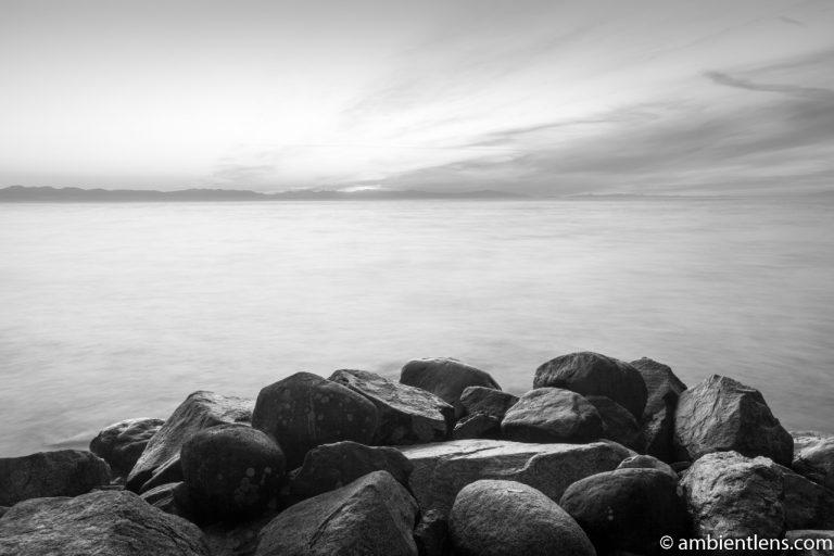 Big Rocks at Acadia Beach, Vancouver, BC 7 (BW)