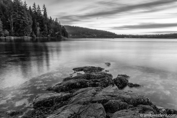 The Beach at Belcarra Regional Park, Anmore, BC 2 (BW)