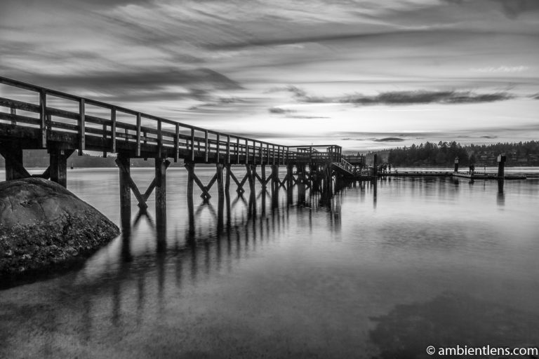 The Dock at Belcarra Regional Park, Anmore, BC 4 (BW)