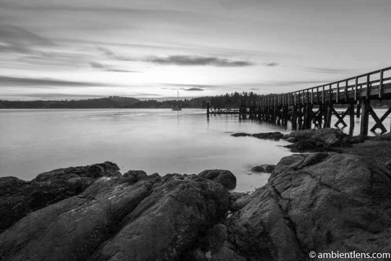 The Dock at Belcarra Regional Park, Anmore, BC 3 (BW)