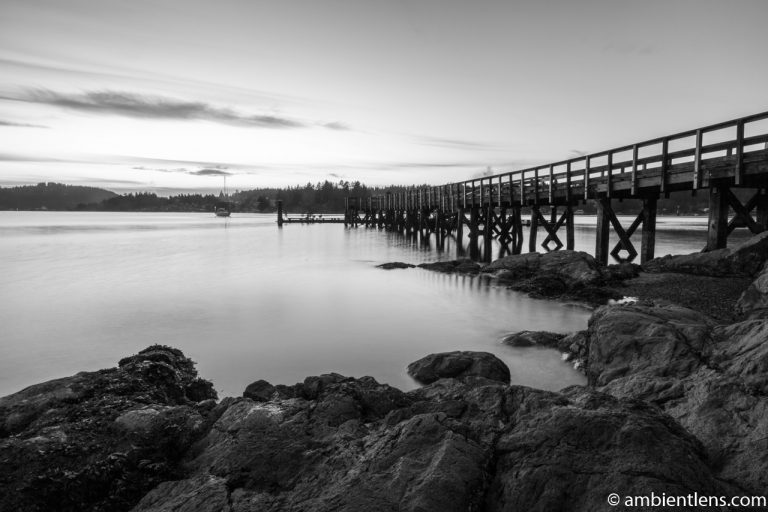 The Dock at Belcarra Regional Park, Anmore, BC 2 (BW)