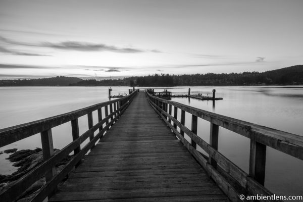 The Dock at Belcarra Regional Park, Anmore, BC 1 (BW)