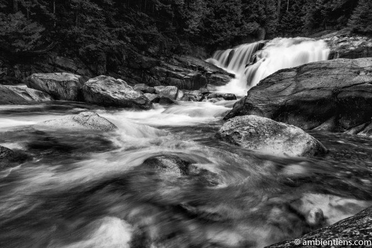 Gold Creek Falls, Maple Ridge, BC 2 (BW)
