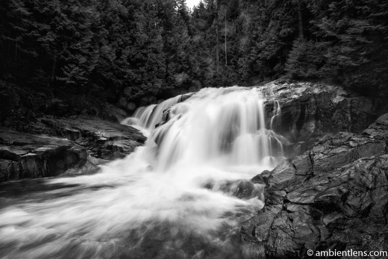 Gold Creek Falls, Maple Ridge, BC 1 (BW)