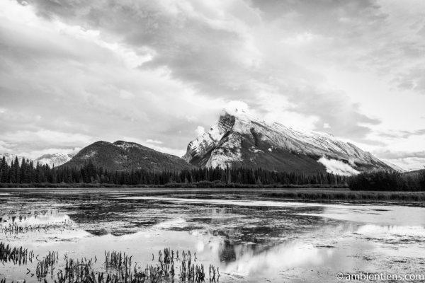 Mount Rundle, Banff, Alberta 1 (BW)