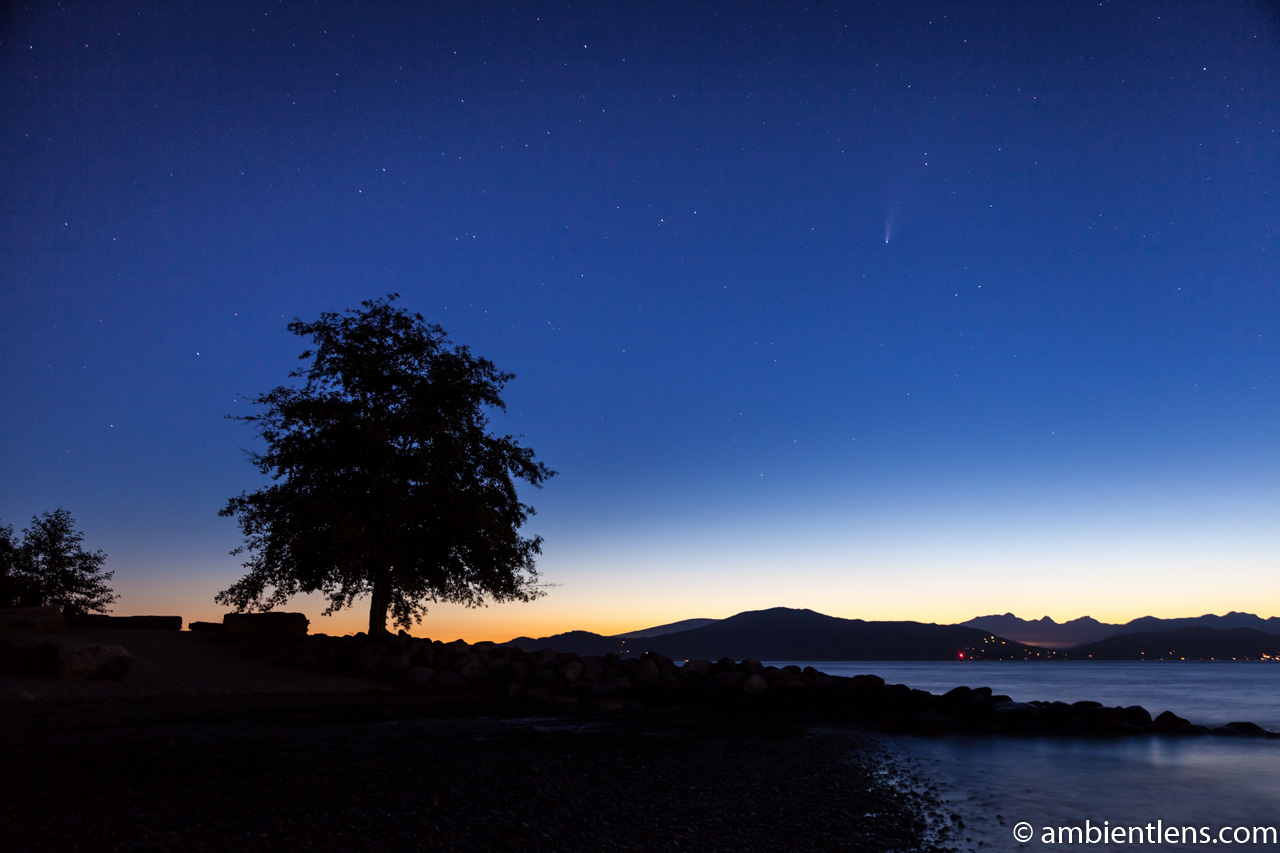 Neowise Comet over Spanish Banks, Vancouver, BC 1