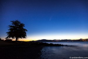 Neowise Comet over Spanish Banks, Vancouver, BC 2