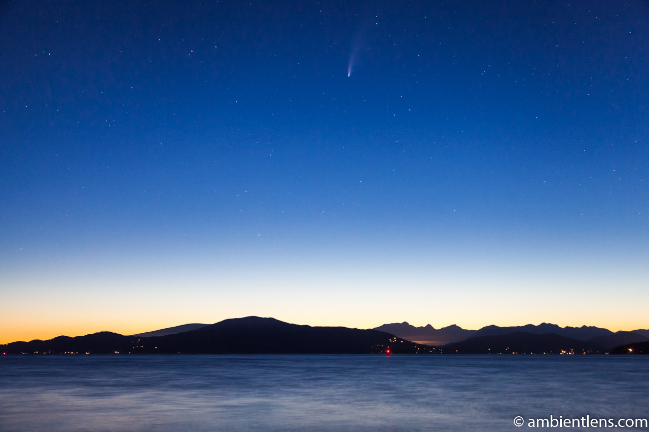 Neowise Comet over Vancouver Island