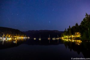 Perseid Meteor Shower in Deep Cove, North Vancouver, BC