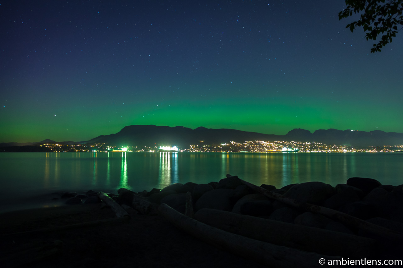 Aurora Borealis over West Vancouver