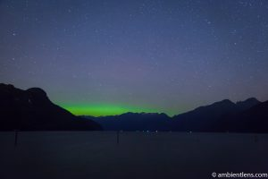 Aurora Borealis over Pitt Lake